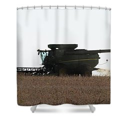 Shower Curtain featuring the photograph Deere Harvesting by J L Zarek