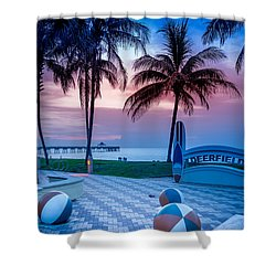 Deerfield Beach Fl Fishing Pier Shower Curtain