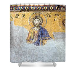 Deesis Mosaic Of Jesus Christ Shower Curtain