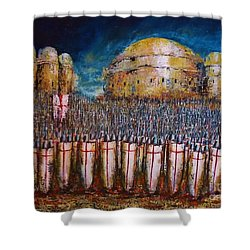Defence Of Jerusalem Shower Curtain