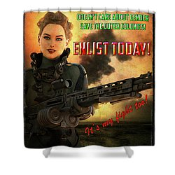 Defending Freedom Shower Curtain