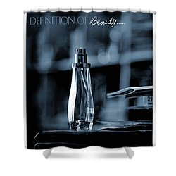 Definition Of Beauty Blue Shower Curtain