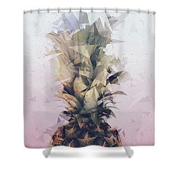 Defragmented Pineapple Shower Curtain