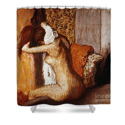 Degas: After The Bath Shower Curtain by Granger