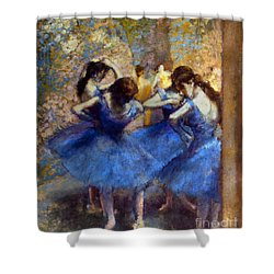 Degas: Blue Dancers, C1890 Shower Curtain by Granger