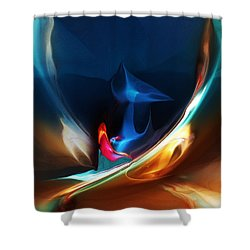 Deja Vu Shower Curtain by David Lane