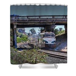 Del Mar Amtrak Shower Curtain