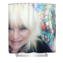 Del Mar Artist Shower Curtain by Heather Roddy