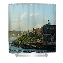 del Morro Sunrise Shower Curtain
