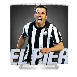 Del Piero Shower Curtain