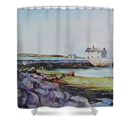 Delano's Wharf At Rock Nook Shower Curtain