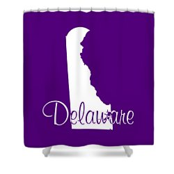 Delaware In White Shower Curtain