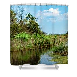 Delaware Wetlands Shower Curtain