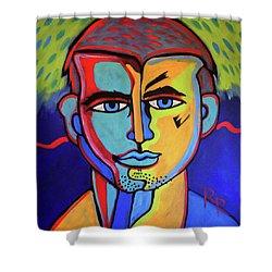 gay kiss shower curtains | fine art america
