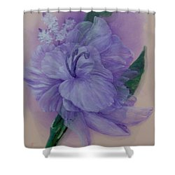 Shower Curtain featuring the painting Delicacy by Saundra Johnson