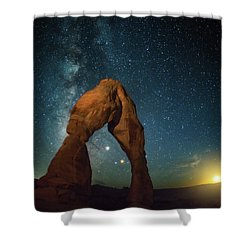 Delicate Arch Moonset Shower Curtain