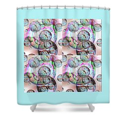 Delicate Bubbles Shower Curtain