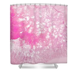 Delicate Pink Agate Shower Curtain
