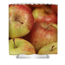 Delicious Apple Fruit Background Shower Curtain