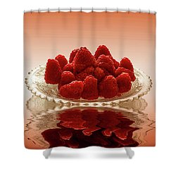 Delicious Raspberries Shower Curtain by David French