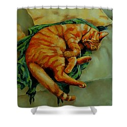 Delicious Sleep Shower Curtain by Jolante Hesse
