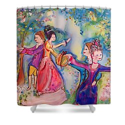 Delightful Company  Shower Curtain