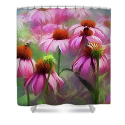 Delightful Coneflowers Shower Curtain by Diane Schuster