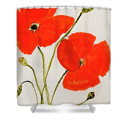 Delightful Poppies Shower Curtain