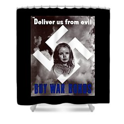 Deliver Us From Evil Shower Curtain by War Is Hell Store