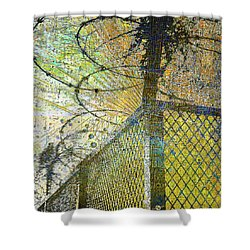 Shower Curtain featuring the mixed media Deliverance by Tony Rubino