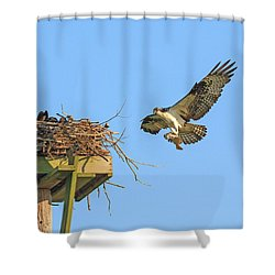 Delivering Breakfast Shower Curtain