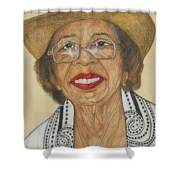 Della Willis Portrait Shower Curtain