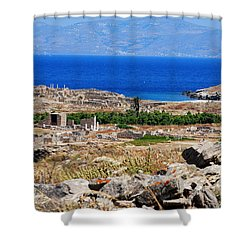 Delos Island View Of Agean Shower Curtain