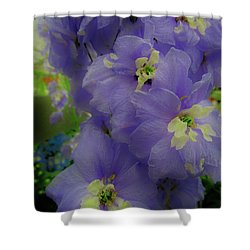 Delphinium Blues Shower Curtain