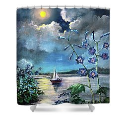 Delphinium Dreams Shower Curtain