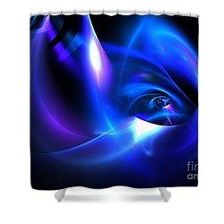 Delphinium Shower Curtain by Kim Sy Ok