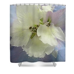 Delphinium Macro Shower Curtain