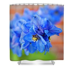 Delphinium Shower Curtain by Tamara Sushko