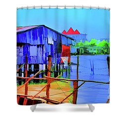 Delta Cove Shower Curtain