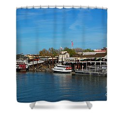 Shower Curtain featuring the photograph Delta King by Debra Thompson