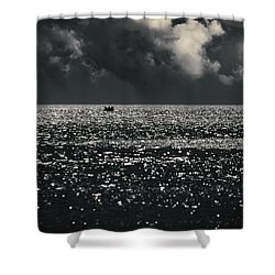 Delusion Shower Curtain by Taylan Apukovska