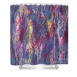 Shower Curtain featuring the painting Delve Deep 2 by Mini Arora