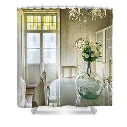 Shower Curtain featuring the photograph Demijohn And Window Color Cadiz Spain by Pablo Avanzini