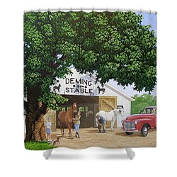 Deming Stables Shower Curtain