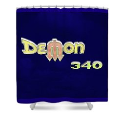 Shower Curtain featuring the photograph Demon 340 Emblem by Mike McGlothlen