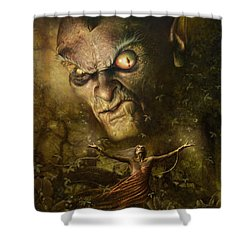 Shower Curtain featuring the digital art Demonic Evocation by Uwe Jarling