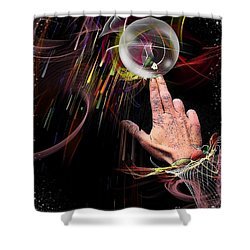Shower Curtain featuring the digital art Demonstrate Ways Of Life By Nico Bielow by Nico Bielow