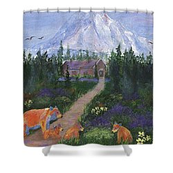 Shower Curtain featuring the painting Denali by Jamie Frier