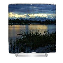 Denali Midnight Sunset Shower Curtain