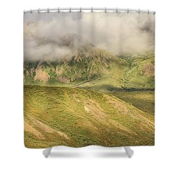 Denali National Park Mountain Under Clouds Shower Curtain